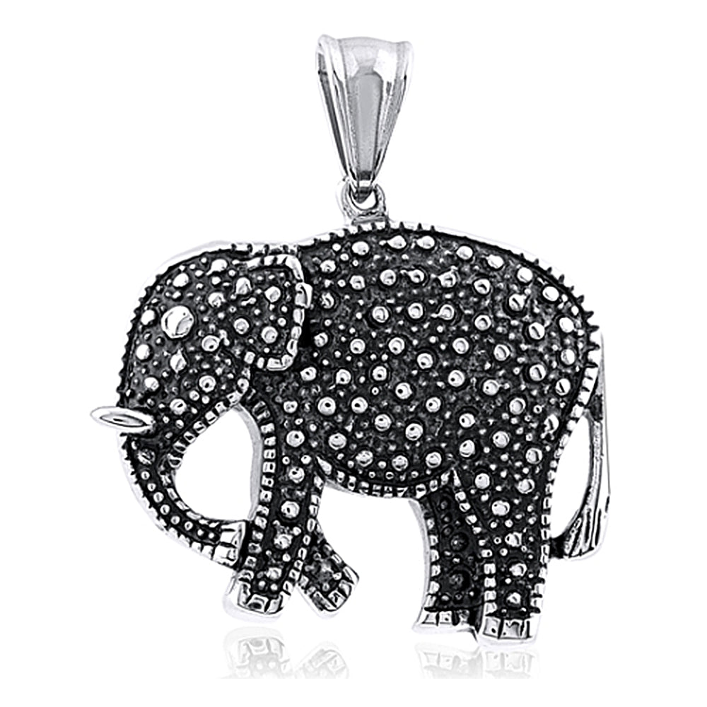 Stainless Steel Good Luck Elephant Pendant