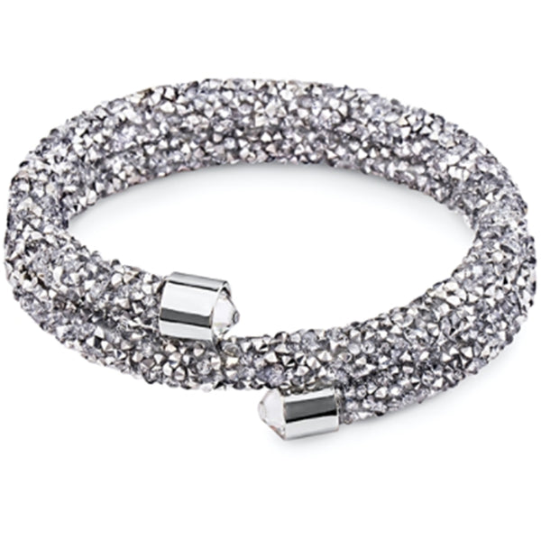 Swarovski Crystals Double Bangle - Grey