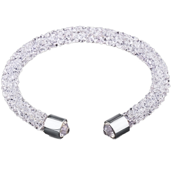 White Cuff Bracelet Design with Crystals from Swarovski® Burlap Gift Box Included