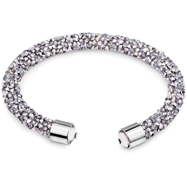 Gray Cuff Bracelet Design with Crystals from Swarovski® Burlap Gift Box Included