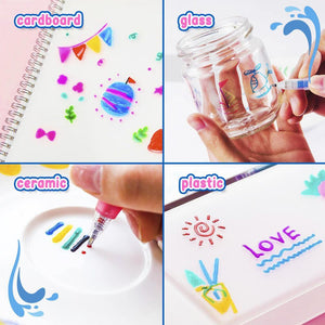 3D Jelly Painting Pen 6pcs Set