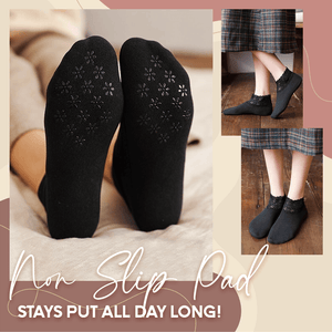 Anti-Slip Lace Socks With Fleece-5 Pairs