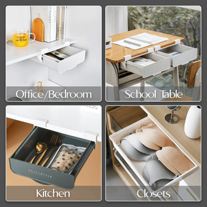 Self-Adhesive Built-In Storage Drawer