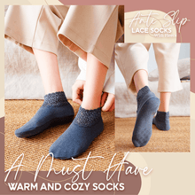 Load image into Gallery viewer, Anti-Slip Lace Socks With Fleece-5 Pairs