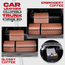 Load image into Gallery viewer, Car Leather Collapsible Trunk Storage Box