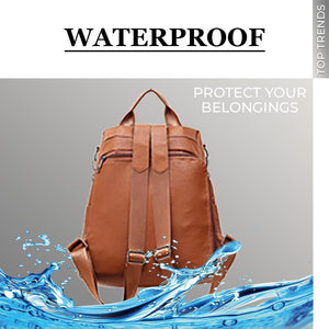 Women Safety Waterproof Leather Shoulder Bag