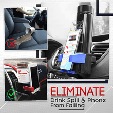 Load image into Gallery viewer, Car Water Cup And Phone Holder