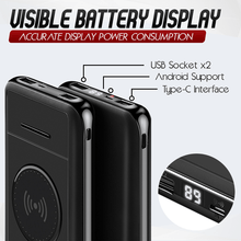 Load image into Gallery viewer, Wireless Phone Charging Power Bank Plus Holder