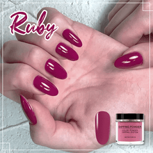 Load image into Gallery viewer, Nail Dipping Powder Manicure Set 1688 Ruby
