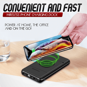 Wireless Phone Charging Power Bank Plus Holder