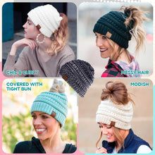 Load image into Gallery viewer, Knit Ponytail Beanie