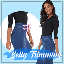 Load image into Gallery viewer, Denim Trimming Skirt