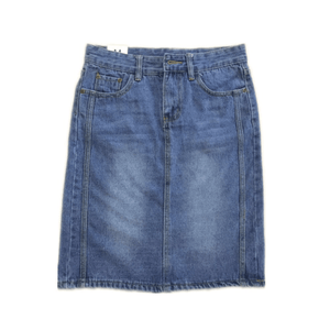 Denim Trimming Skirt
