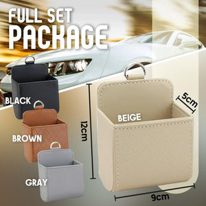 Car Leather Storage Basket-Set For 4