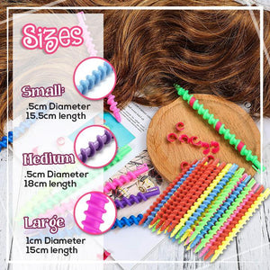 DIY Styling Spiral Hair Curlers