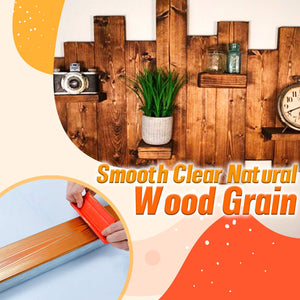 DIY Wood Grain Scrapping Stencil