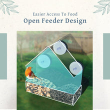 Load image into Gallery viewer, Transparent Suction Cup Bird Feeder