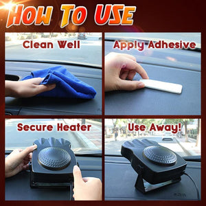 Instant Car Defrost and Defog Heater