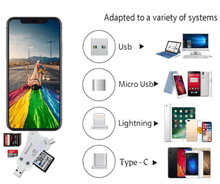 Load image into Gallery viewer, 4 in 1 iFlash Pro Drive Card Reader