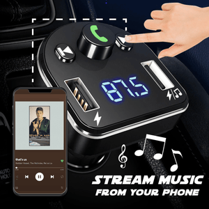 Car Bluetooth to FM Transmitter Music Player