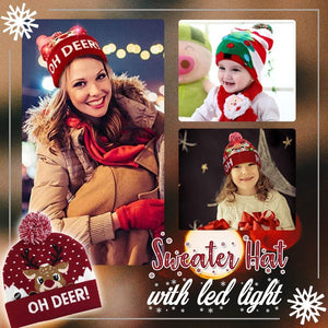 Xmas LED Ugly Sweater Hats