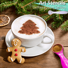 Load image into Gallery viewer, Art Stencils Coffee Pastry Spoon