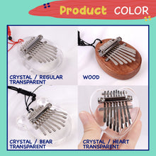Load image into Gallery viewer, Mini Kalimba Thumb Piano 1688 Heart Crystal Transparent