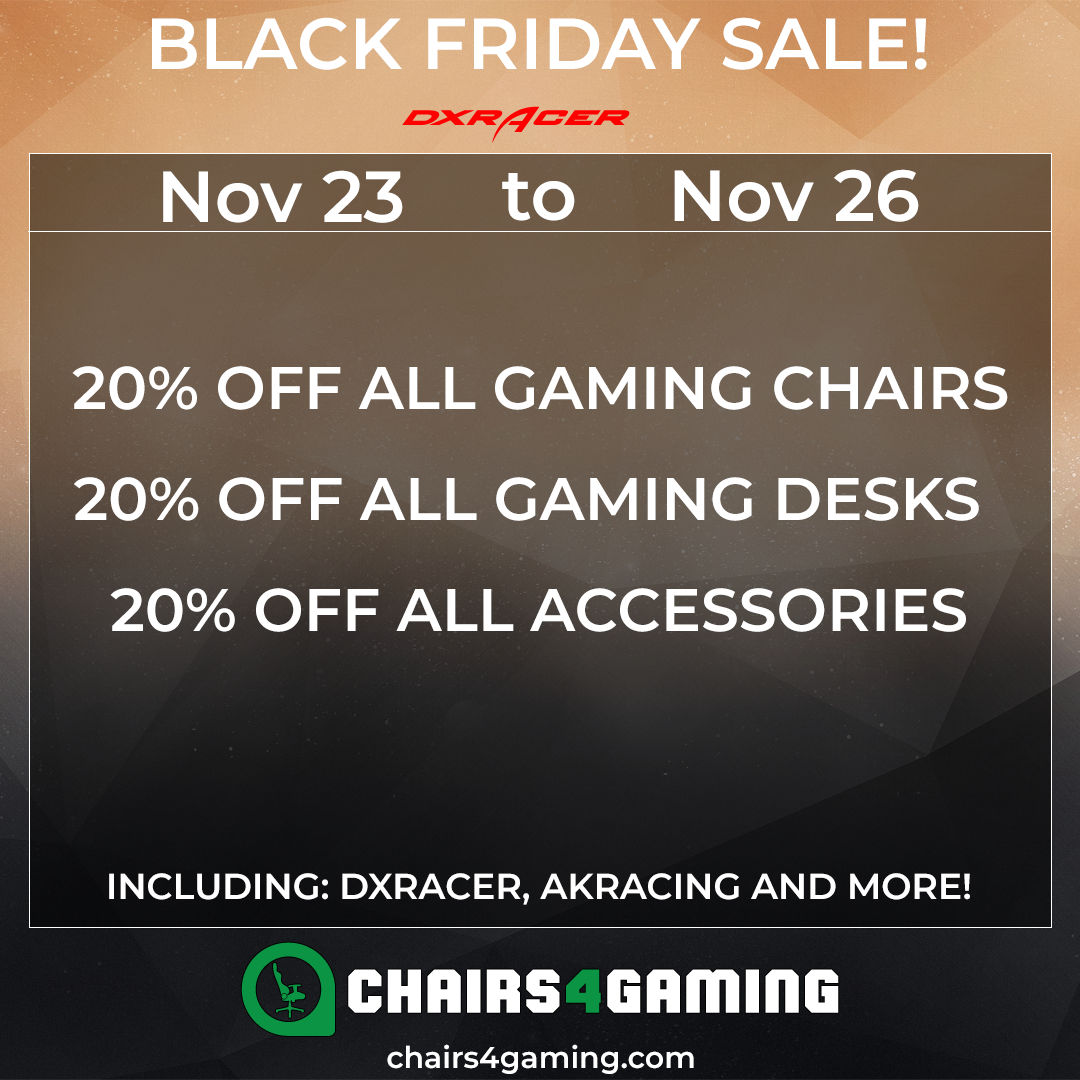 Black Friday DXRacer and AKRacing 2018