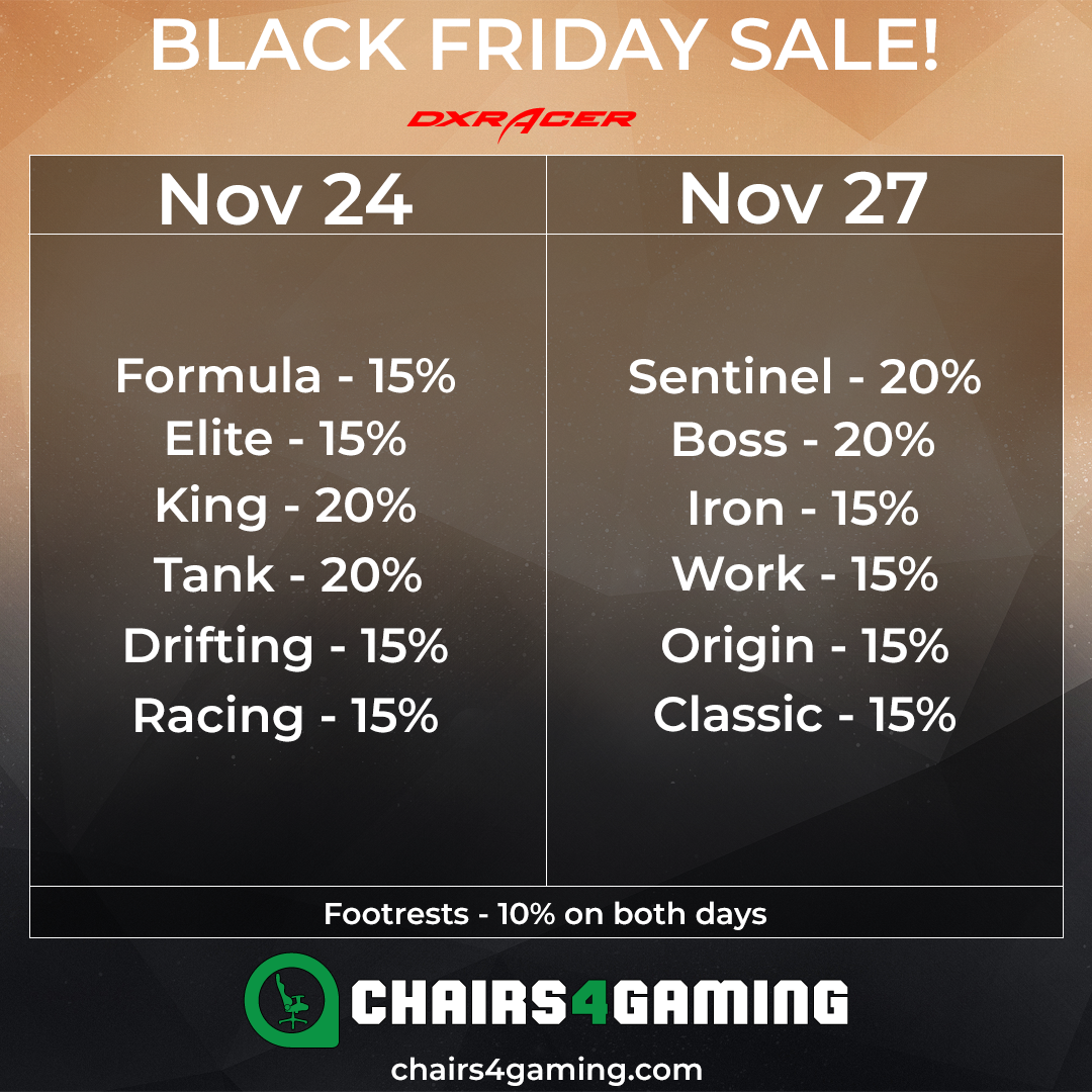 DXRacer Black Friday 2017