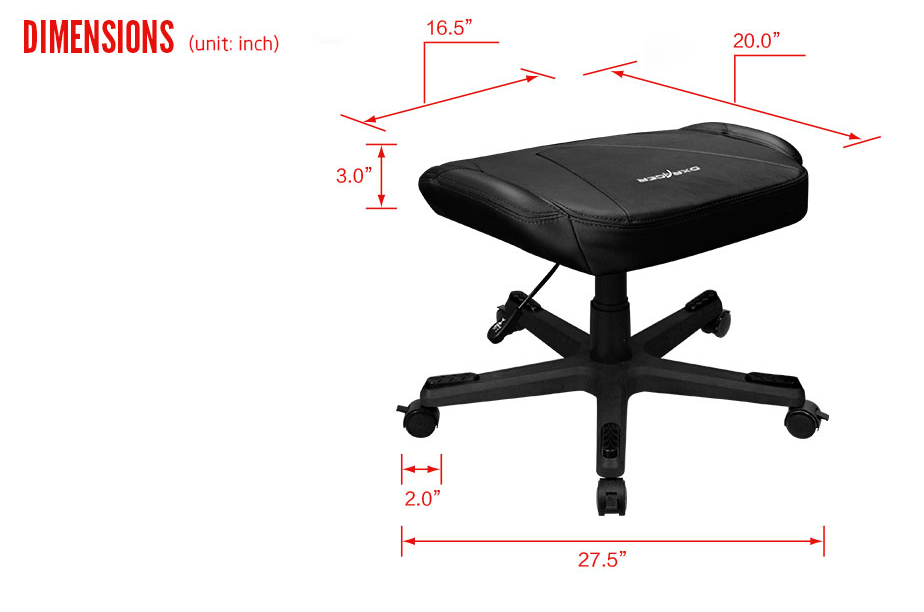 DXRacer OH/CS120/N/FT (Footrest)