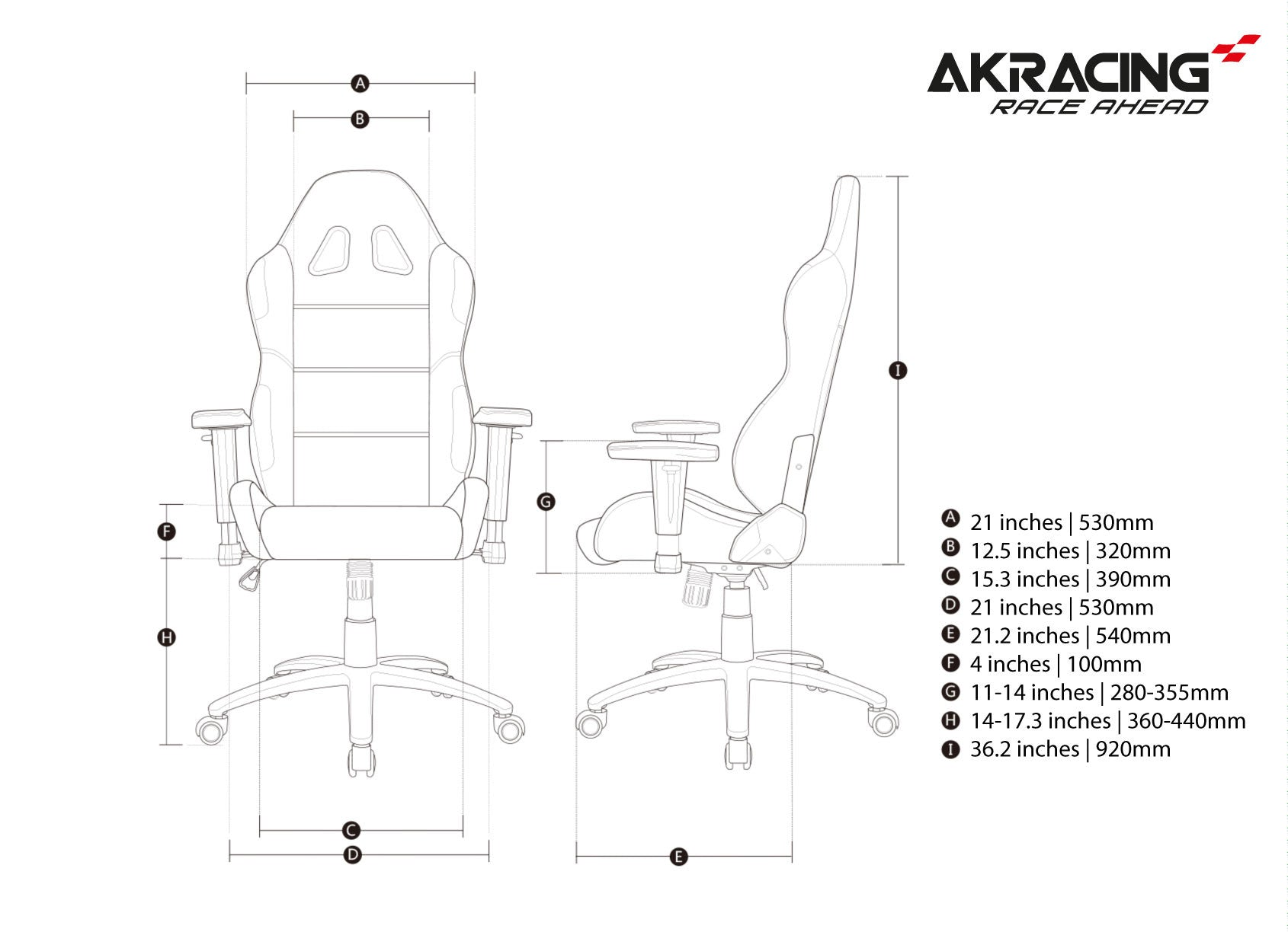 AKRacing K7 (Red) [Discontinued]