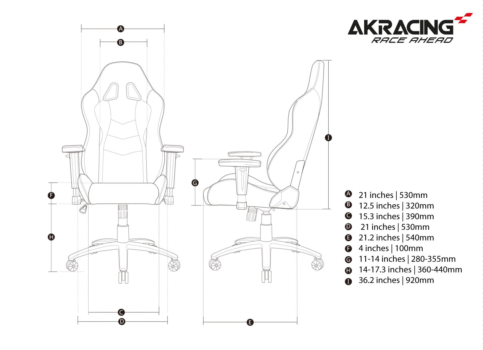 AKRacing Nitro (White)