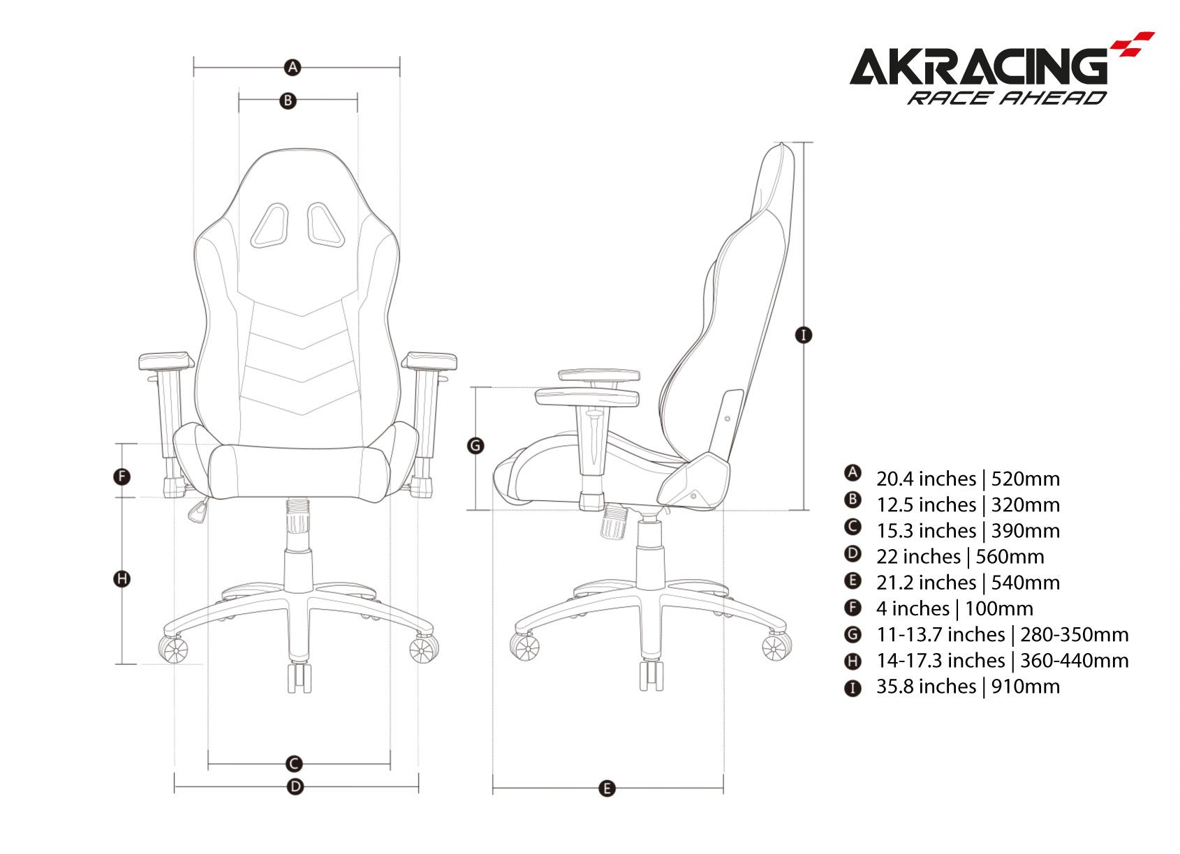 AKRacing Octane (White)