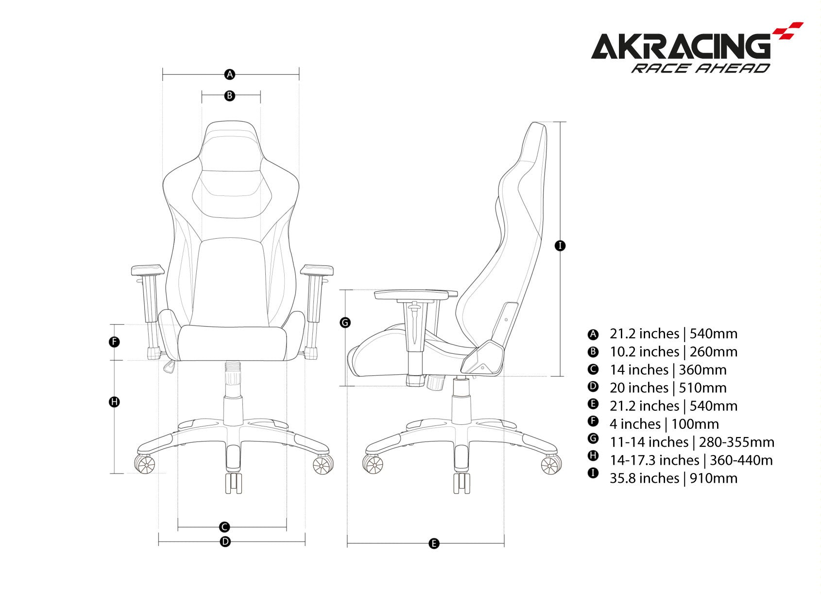AKRacing Premium Tri-Color