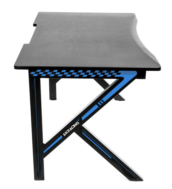 AKRacing Gaming Desk Blue - Side Angle