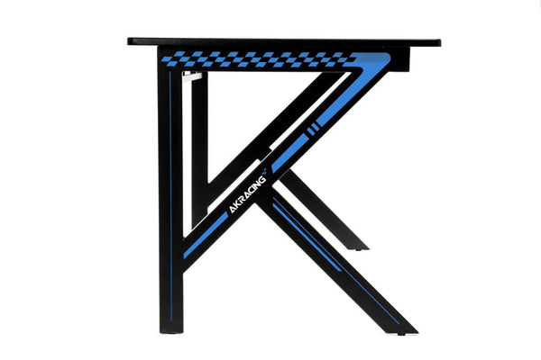 AKRacing Gaming Desk Blue - Side