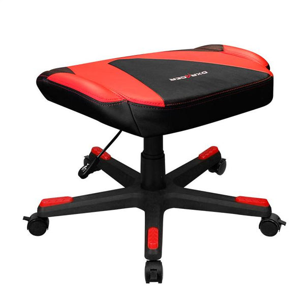 DXRacer Footrest Red - Angle