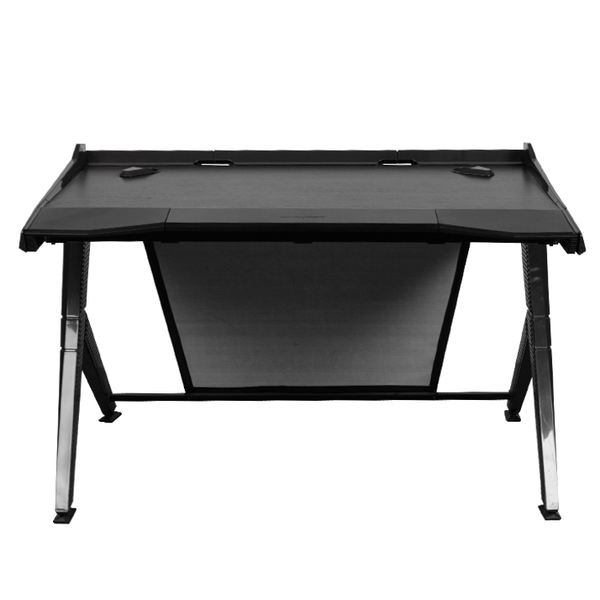 DXRacer Gaming Desk Black - Front