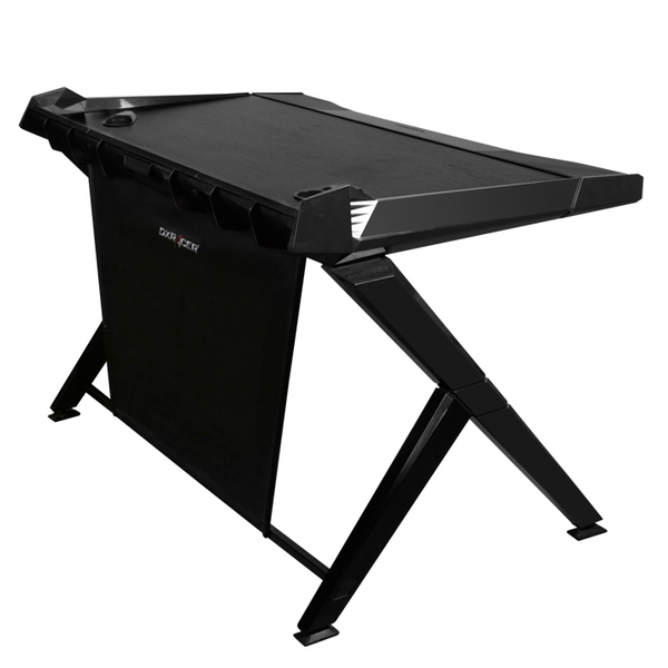 DXRacer Gaming Desk Black - Side Angle