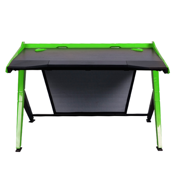 DXRacer Gaming Desk Green - Front