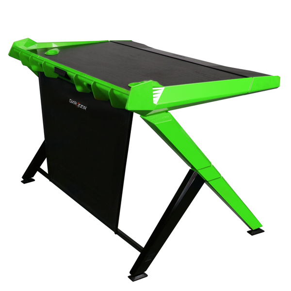 DXRacer Gaming Desk Green - Side Angle