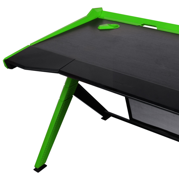 DXRacer Gaming Desk Green - Wire Management