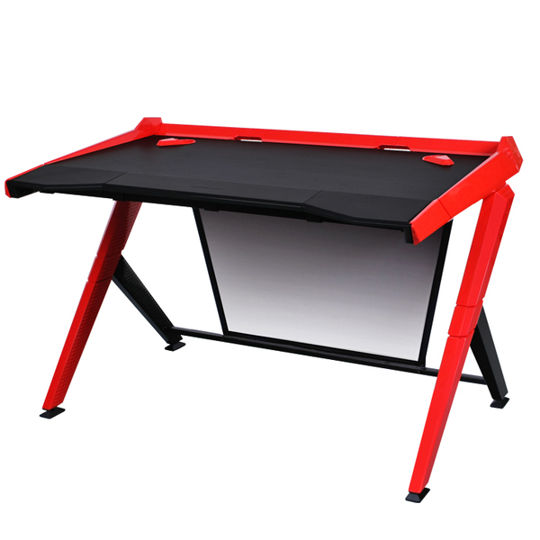 DXRacer Gaming Desk Red - Angle