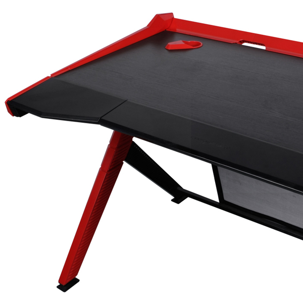 DXRacer Gaming Desk Red - Wire Management