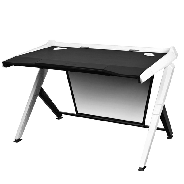 DXRacer Gaming Desk White - Angle