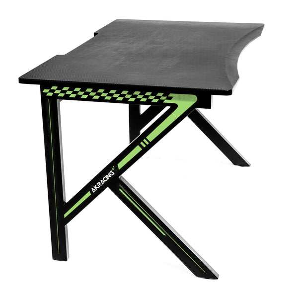 AKRacing Gaming Desk Green - Angle
