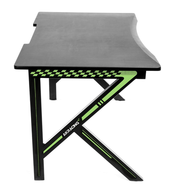 AKRacing Gaming Desk Green - Side Angle