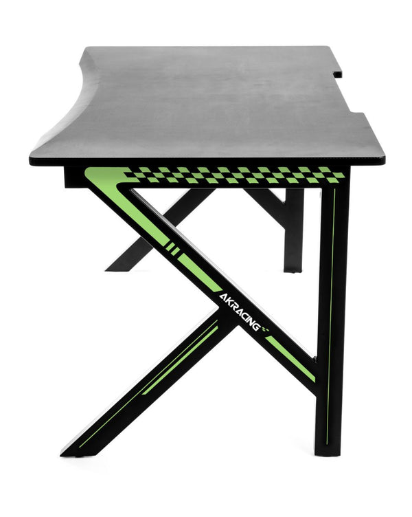 AKRacing Gaming Desk Green - Side