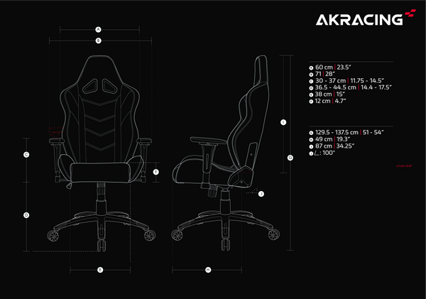 AKRacing LX Plus - Size