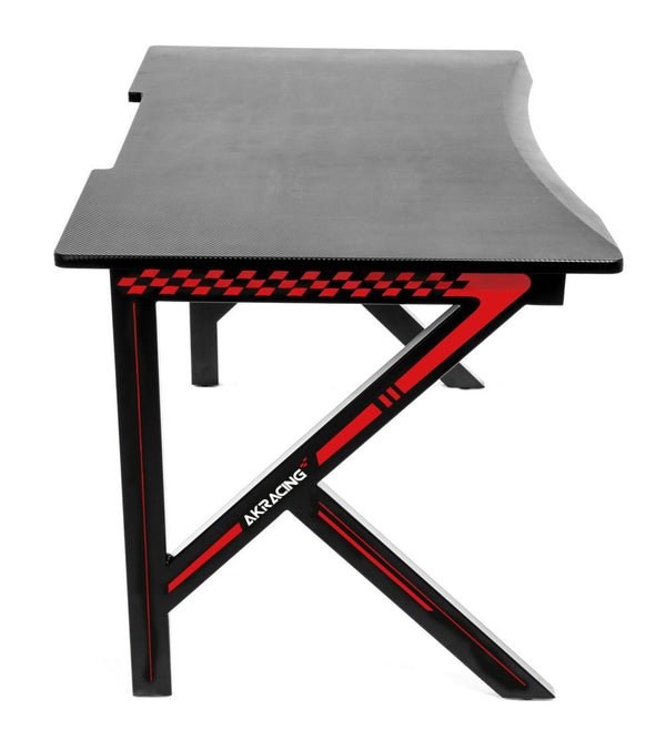 AKRacing Gaming Desk Red - Side Angle